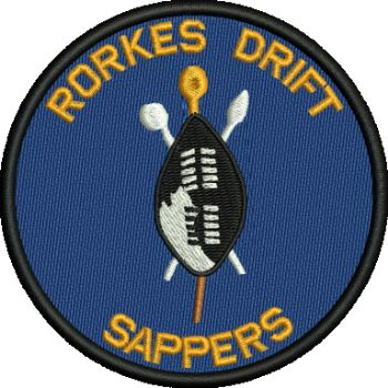 RORKES DRIVE SAPPERS EMBROIDERED BADGE